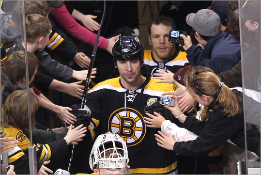 Bruins captain Zdeno Chara was at the center of all the attention prior to the Canadiens' visit. Chara's hit on the Canadiens' Max Pacioretty the last time the teams played -- March 8 in Montreal -- left Pacioretty injured and the Canadiens and their fans seeking vengeance, and ramped up the anticipation for the rematch.