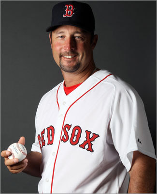 In the bullpen RH Tim Wakefield Fast fact: At 44, Wakefield is the oldest active player in baseball. The oldest player ever to play for the Red Sox was Deacon McGuire at 44 years, 280 days in 1908. Wakefield turns 45 on Aug. 2. Lowdown: He returns to a role he dislikes, that of emergency starter and mop-up reliever. Wakefield had a 5.34 ERA last season but provided 140 innings. He needs seven wins for 200 in his career and 14 to break the team record of 192 held by Roger Clemens and Cy Young. Those milestones will be hard to come by.