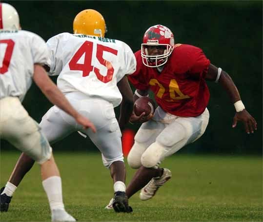 Milton High senior and running back Chad Campbell was named to the 2002 All-Scholastic boys' football team.