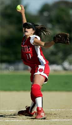 Milton High pitcher Jenna Bortolotti was named to the 2007 All-Scholastic girls' softball team as a senior.