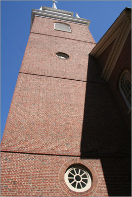 Correct answer: Window at the Old North Church.