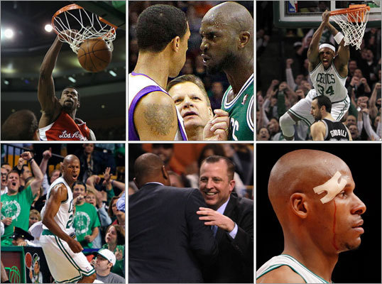 Tonight the Celtics wrap up what has been an up-and-down season in their quest for a second NBA championship in four years. But most of the lumps have come lately in the dog days of March and April as teams count down the days until the playoffs. From the over-hyped season opener to the return to Los Angeles to two intense games with the Knicks, this season has been a memorable one. Here are 18 games (see what we did there?) that defined this Celtics season.