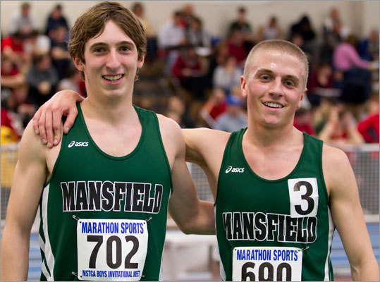 10. An amazing run for Mansfield track Whether it's Division 1, Division 2 relays, Hockomock, All-State, or New Balance Nationals, tell the Mansfield kids to start running and get ready to be impressed. The girls won the All-State title led by junior Jen Esposito (two runner-up finishes) and senior Kristen McDonagh, the Hornets' only individual champion (high jump). The boys matched them with Josh Lampron winning the mile and adding a first- (4x400), second- (4x800), and third-place (4x200) finish in the relays. 'This just shows how hard we worked all winter,' said Emily Broyles. The boys' medley team capped the year with a win at the nationals.