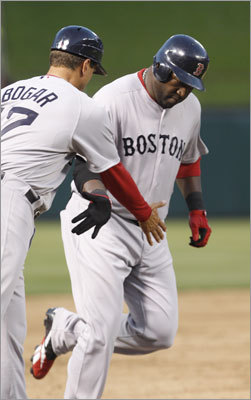 April 2: Rangers 12, Red Sox 5 David Ortiz cranked his second home run in as many games Saturday. His two-run shot in the second inning gave the Red Sox a 2-1 lead.
