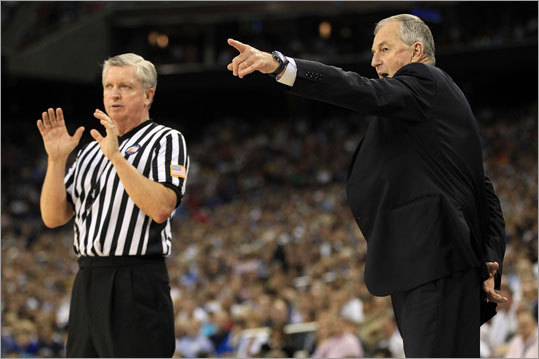 Final: Connecticut 53, Butler 41 Connecticut coach Jim Calhoun made a point with one of the officials during the first half.
