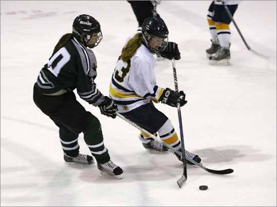 Senior Meghan Collins was named to the 2011 All-Scholastic girls' ice hockey team for her work as a defense woman for Fontbonne Academy.