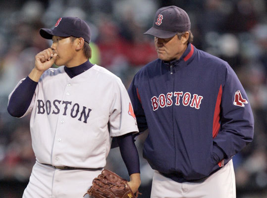 2009: 2-6 start Daisuke Matsuzaka lasted just one inning after giving up five first inning runs in Oakland on April 14, 2009, and although the Red Sox rallied back, they ultimately fell to the A's 6-5 in extra innings. The loss left them with a record of 2-6 to start the season. The Red Sox bounced back to finish with a 95-67 record, good for the wild card. But the Sox were unceremoniously swept by the Angels in the ALDS in three games.