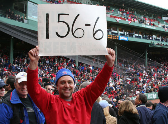 Friday: Home opener Fans were hopeful on Friday despite the team's 0-6 start on the road. John Cucinotta, from North Branford, Conn., made this sign to show faith in the Sox to turn their season around.