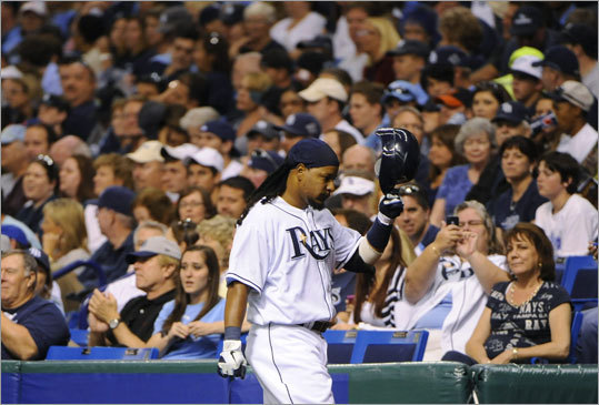 Back in the AL East Manny was traded from the Dodgers to the White Sox in the 2010 season, then latched on with the Tampa Bay Rays in the offseason. In Tampa, he was reunited with former Red Sox teammate Johnny Damon, but the latest issue with the MLB's drug policy ended their time together after just five games.