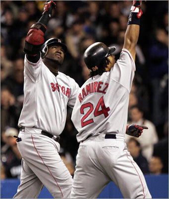 2004 ALCS: Red Sox over Yankees, 4-3 From the lowest low to the highest high, the Red Sox redeemed themselves for 86 years of futility with an impossible comeback from three-games-to-none down in the 2004 ALCS. David Ortiz (left) gave the Sox a 2-0 lead with a home run in Game 7 as the Red Sox routed the Yankees in the Bronx. The Sox had been down to their final out in Game 4 before Dave Roberts gave them hope with a stolen base. No baseball team had ever come back from a 3-0 deficit in a series, and that -- combined with the opponent -- helped make the Red Sox' first World Series title since 1918 even more special.