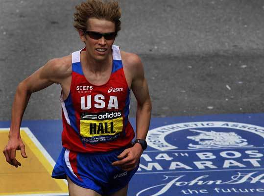 Ryan Hall Number: 3 Personal Best: London, 2008 – 2:06:17 Age: 27 Country: US Boston Marathon: Fourth in 2010 (2:08:41); Third in 2009 (2:09:40). Of Note: A three-time All-American cross-country runner at Stanford, Hall has is one of the best domestic distance runners of all time, boasting the second-fastest marathon time by an American (2:06:17). Hall is also the American record-holder in the half marathon, 59:43. Hall likes to come out fast and set the pace, as he famously did in 2009.