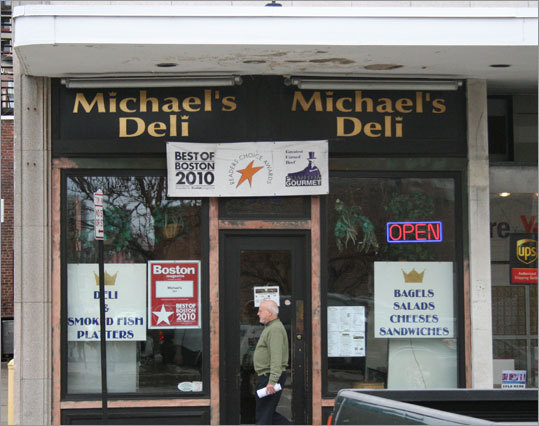 Michael's Deli After doing an interview with Howie Carr, the crew headed to Michael's Deli in Brookline's Coolidge Corner neighborhood along with Carr to sample the sandwich named after the WRKO radio host. The 'Howie Carr' features three-quarters of a pound of corned beef and beef brisket on a roll. While at Michael's, Carr also outlined the 16-year search for fugitive Boston gangster James 'Whitey' Bulger. 256 Harvard St., Brookline, 617-738-3354, www.delitogo.com