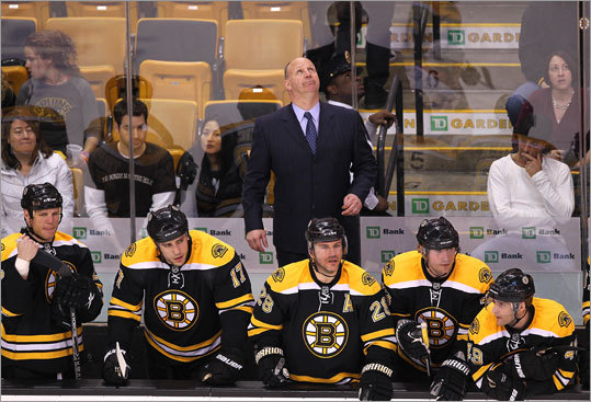 Game 1: Canadiens 2, Bruins 0 As the final seconds of the first game of the Bruins' playoff series against the Canadiens ticked off the clock, things looked anything but up for coach Claude Julien and the Bruins. Montreal defeated Boston 2-0 at TD Garden.