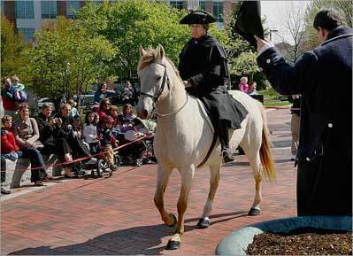 Troop's riders carry Revere's message Monday