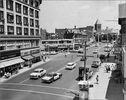 Howard, in his 16th and final year as mayor and a lifelong resident, said that the uptick in the city census numbers ­-- an increase of 3,110 from the 2000 census - show 'the city is growing, the population numbers are good.' Left: This photo, taken in 1965, is a view of Malden Square, looking north from Exchange Street and Main Street.