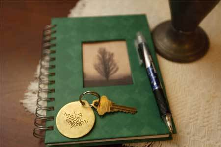 Candace Julyan and her husband, an architect, remodeled an old Victorian in Malden. They now run a guest house called Treetops Suite. Guest book and house key at Treetops Suite.