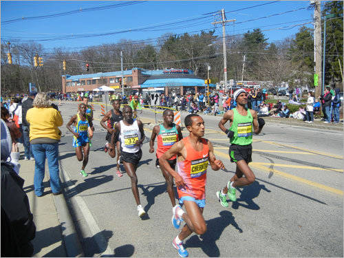 A group of elite runners made their way through the center of Ashland.