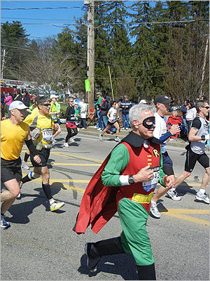 A runner dressed as Robin made his way through Ashland. No sign of Batman, however.