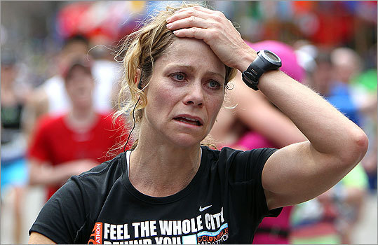 An emotional Allyson Carson from Solon, Ohio crossed the finish line.