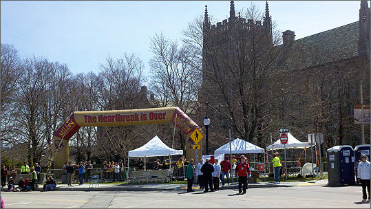 Boston College just after Heartbreak Hill.