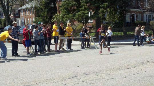 Men's division runners went through Heartbreak Hill.
