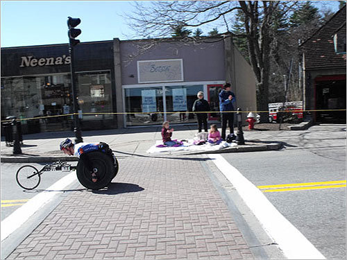 A racer sped through Wellesley.