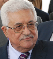APPEALING TO INTERNATIONAL COMMUNITY Mahmoud Abbas said Palestinians will not agree to an independent state with temporary borders.