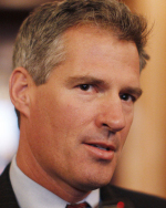 LAWMAKER'S TERMS Senator Scott Brown is among lawmakers insisting on spending cuts as a precondition of raising the ceiling.