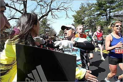 Scenes from the Boston Marathon