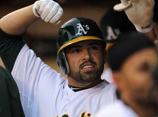 April 19: Athletics 5, Red Sox 0 Right fielder David DeJesus put the A's on the board with an RBI groundout in the first that scored Coco Crisp. DeJesus went 1-4 and is batting .250 with a .286 slugging percentage.