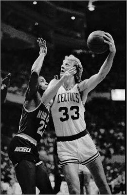 Larry Bird: 1986 Finals vs. Rockets, Game 3 Bird had one of his best all-around games in the playoffs when it counted most, putting up a triple-double in the deciding game vs. the Houston Rockets in the 1986 NBA Finals. Bird poured in 29 points while adding 11 rebounds and 12 assists. In other words, Rondo with scoring. Bird averaged 24 points, 9.7 rebounds, and 9.5 assists in the series, earning him Finals MVP in addition to his regular season MVP award.
