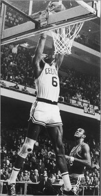Bill Russell in the playoffs This isn't one specific game, but Russell's overall playoff numbers are worth highlighting. The 11-time NBA champion had 15 consecutive Finals games of 20 or more rebounds from April 9, 1960 to April 16 1963. He had 20 or more rebounds in every game of Finals series in 1959 against Minneapolis (4 games), 1961 against St. Louis (5 games), and 1962 against Los Angeles (7 games).