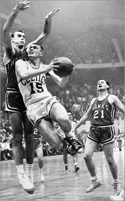 Tom Heinsohn: Game 7, 1957 NBA Finals Tom Heinsohn set the rookie record for most points in a Finals game when he had 37 points against St. Louis April 13, 1957. He averaged 24 points per game during the series, the second-highest average all-time for an NBA rookie in the Finals. This was Boston's first trip to the Finals in franchise history, and they finished off the Hawks in Game 7, 125-123, in overtime.