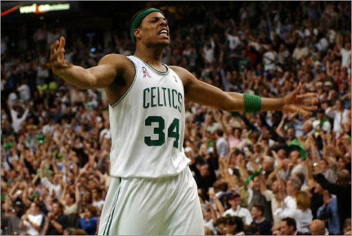Paul Pierce: Game 3, 2002 Eastern Conference Finals vs. Nets There wasn't much to cheer about for the Celtics in the early 2000s, but a playoff comeback against the Nets was one of the highlights. The Celtics came back from down 26 points in the second half to stun New Jersey, 94-90, in Game 3 of their playoff series. Pierce scored 19 of his 28 points in the fourth quarter after struggling early, much to the dismay of teammate Antoine Walker. 'I felt like Paul was bailing them out,' Walker said. 'I felt like he wasn't playing the game he's capable of playing. He stepped up huge in the fourth quarter like he's done all season long and showed why he's an All-Star.'