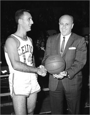 Bob Cousy: Game 2, 1953 Eastern Division Semifinals vs. Syracuse The Celtics clinched the best-of-three series with a victory in Game 2 almost exclusively because of Cousy, whose 50 points were a playoff record at the time. Cousy got to 50 in an unconventional way, netting just 10 field goals but going 30 of 32 from the line. He scored nine points in the fourth overtime period to seal the win for the Celtics.
