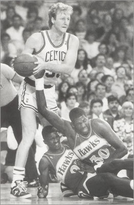 Larry Bird: Game 7, 1988 Eastern Conference Semifinals vs. Atlanta Bird and Dominique Wilkins engaged in one of the most memorable playoff duels of all-time at Boston Garden, where the Celtics were almost unbeatable. Wilkins finished the game with 47 points while Bird scored 34, but the real show came in the fourth quarter. Bird scored 20 points in fourth, going 9 of 10 from the field, while Wilkins scored 16 points. The Celtics won the game behind Bird, 118-116.