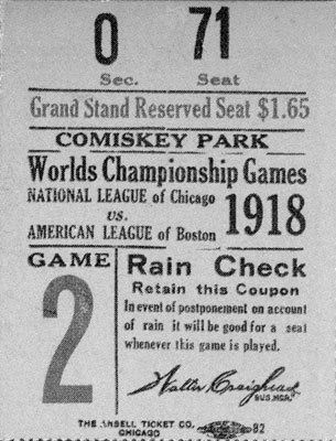 A grandstand reserved seat for Game 2 in Chicago cost $1.65 and the attendance, according to baseball-reference.com, was 20,040. The Cubs scored three runs in the second inning for a 3-1 victory. Lefty Tyler was the winning pitcher.