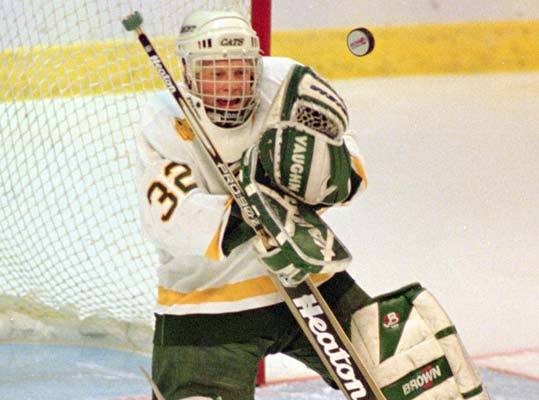 Thomas chose to play for the University of Vermont Catamounts after attending high school in Davison, Mich.. He led the Catamounts to its first NCAA Frozen Four appearance in 1996, where they lost in one of the most memorable games in NCAA history - a 4-3 double overtime loss to Colorado College. He played for Vermont from 1993 to 1997 and also played internationally for Finland. He compiled an 81-43-15 record and a 2.70 GAA in 140 collegiate games.