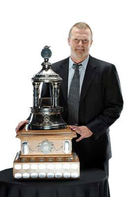 Bruins goalie Tim Thomas, winner of the 2009 Vezina Trophy as the NHL's best goaltender, snagged the award for 2011 as well. Thomas beat out finalists Roberto Luongo (Vancouver Canucks) and Nashville's Pekka Rinne. The trophy is awarded annually to the NHL's best goaltender. Thomas's 2.0 goals-against-average and .938 save percentage were tops in the NHL in the 2010-11 season.