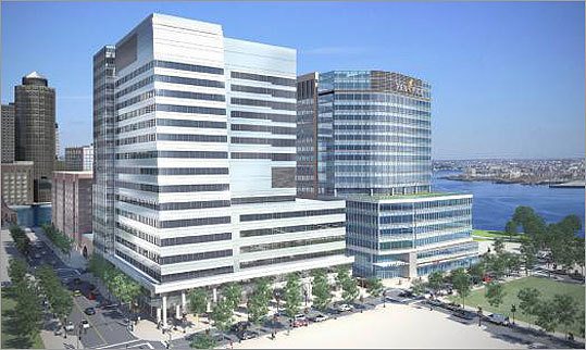 The approval of Vertex's Pharmaceutical Inc.'s hepatitis C treatment triggers one the biggest real estate deals in Boston's history and is expected to spur the economic turnaround of the waterfront's industrial area. Construction of two buildings totaling more than a million square feet and costing about $800 million is scheduled to be completed in 2013 or 2014.