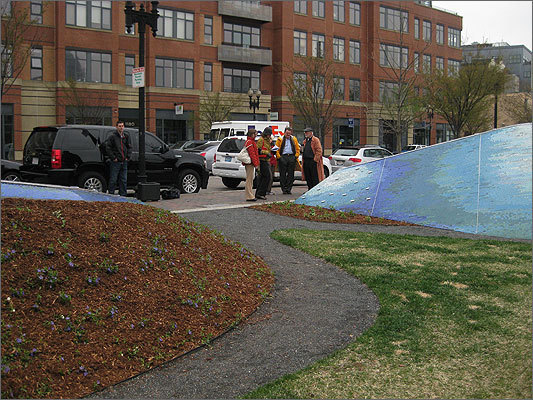 Rebecca Blunk, of New England Foundation for the Arts, said the piece epitomized the ideals behind public art, like 'the inherent value in the shared communal experience of engaging with your surroundings.'