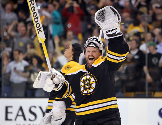 Game 7: Bruins 4, Canadiens 3 Thomas made 34 saves to help the Bruins advance to the next round of the playoffs.