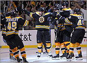 The Bruins celebrate their win