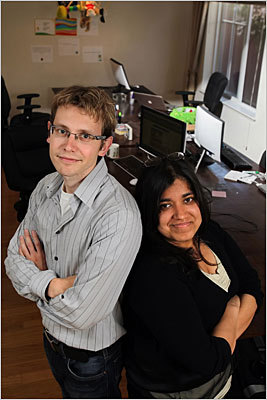 'A community of mentors' Whose idea? Shahbano Imran and David Tolioupov. Who are they? Boston college graduates who founded LocalOn.com which gives small businesses an outlet to advertise. These two entrepreneurs moved to Silicon Valley after receiving money from Boston investors, hoping to take advantage of the area's extensive networking opportunities. What Boston needs is something similar: by spreading opportunity to all areas of study and by raising awareness for these kinds of programs, such as MassChallenge, a nonprofit group and TechTrek at Boston College, which help young entrepreneurs. Read the full story
