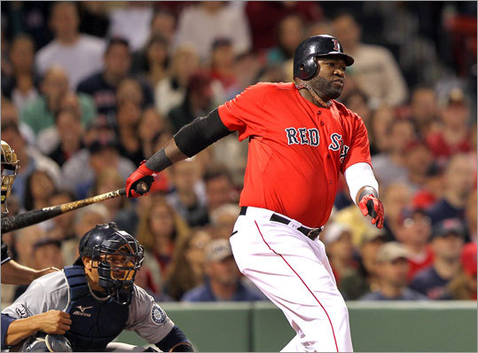 April 29: Mariners 5, Red Sox 4 David Ortiz drilled an RBI single to center field in the bottom of the third inning. Adrian Gonzalez, who had singled, scored from third to put the Red Sox up 3-2.