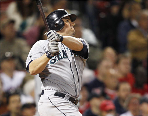 April 29: Mariners 5, Red Sox 4 Designated hitter Jack Cust hit an RBI double in the seventh inning that put the Mariners up 5-4.