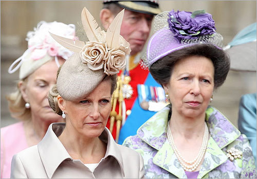 From left: Sophie, Countess of Wessex, and Princess Anne.