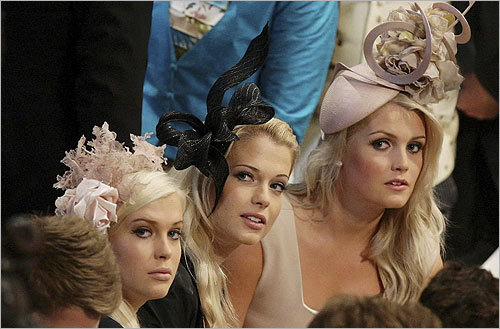 Pictured here, the daughters of Earl Spencer sat in the pews during the royal wedding.