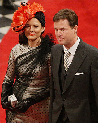 Deputy Prime Minister Nick Clegg and his wife, Miriam Gonzalez Durantez.