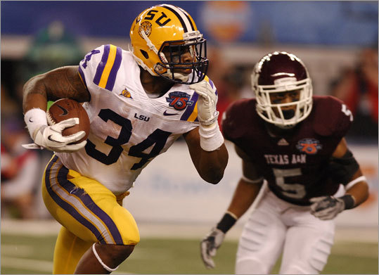 Stevan Ridley College: LSU Position: running back Pick: 3d round, 73d pick Of note: Ridley was the team captain for LSU, and he played both tailback and fullback. He had 1,147 yards and 15 touchdowns in 2010.